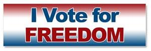 I Vote for Freedom