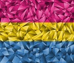 Abstract Pansexual Flag