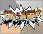 Halftone Bear Typography