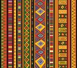 Ethinc Colorful Pattern Africa Art