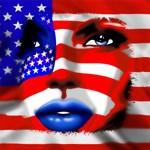 USA Stars and Stripes Woman Portrait