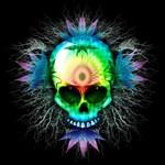Marijuana Psychedelic Skull