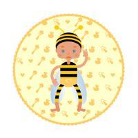 Cute baby like a bee