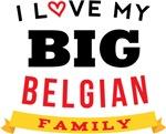 I Love My Big Belgian Family T-shirts