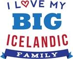 I Love My Big Icelandic Family Tshirts