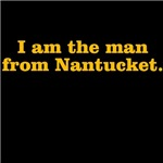 I am the man from Nantucket (gold print)