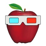 APPLE with 3D Glasses