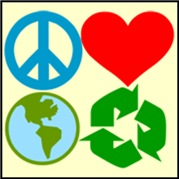 Peace Love Planet Recycle