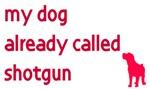 My dog already called shotgun