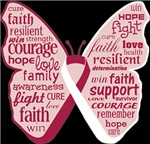 Butterfly Head and Neck Cancer Ribbon
