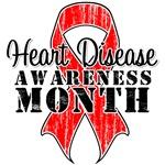Heart Disease Red Ribbon Awareness Month Shirts