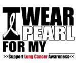 Lung Cancer I Wear Pearl Ribbon Shirts & Apparel