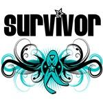 Ovarian Cancer Survivor Tribal Shirts