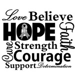 Brain Cancer Hope Collage Shirts