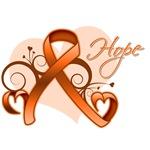 Hope Ribbon Multiple Sclerosis Shirts