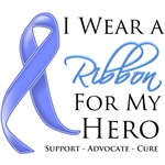 I Wear a Ribbon For My Hero Stomach Cancer Shirts
