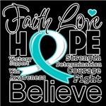 Faith Hope Cervical Cancer Shirts
