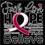 Faith Hope Head and Neck Cancer Shirts