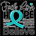 Faith Hope Peritoneal Cancer Shirts
