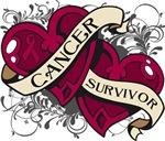 Multiple Myeloma Survivor Double Heart Shirts