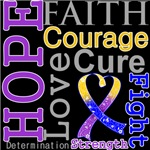 Hope Faith Courage Bladder Cancer Shirts