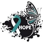 Hope Grunge Butterfly Cervical Cancer Shirts