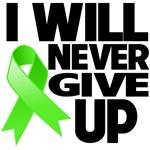 I Will Never Give Up Non-Hodgkins Lymphoma Shirts