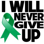 I Will Never Give Up Liver Cancer Shirts