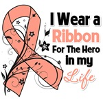 Ribbon Hero in My Life Uterine Cancer Shirts