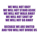 We will not obey