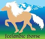 Palomino Icelandic horses