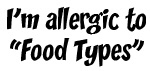 Allergic to Food