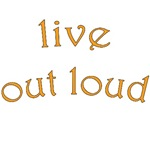 live out loud text design