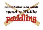 A little paddling