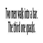 Two Men Walk Into a Bar Joke Parody