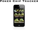 Poker Chip Tracker iPhone Dark Logo