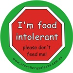 I'm food intolerant-allergy alert