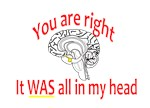 You are right:  It WAS all in my head