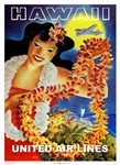 'HAWAII' airlines poster