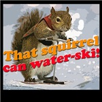 That squirrel can water-ski!