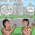 Cavemen at Stonehenge