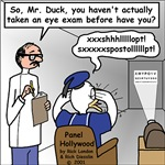 Duck at the Eye Doctor