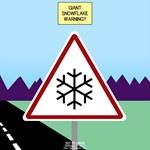 Giant Snowflake Warning