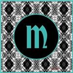 Diamond Black Aqua Monogram