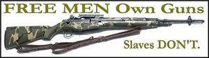 Free Men own rifles Men's Clothing