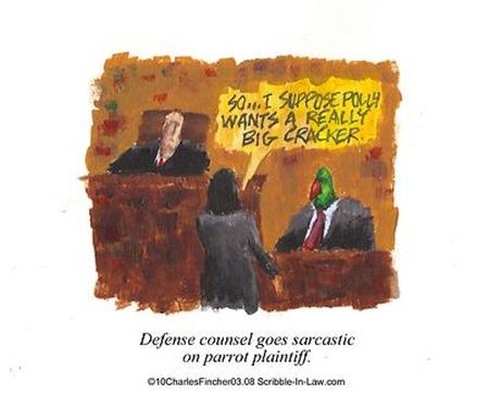 Plaintiff Parrot Wants Money