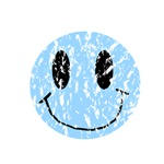 Vintage Blue Smiley 2