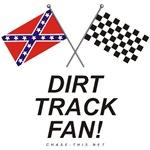 REBEL & CHECKERED FLAG<br />DIRT TRACK FAN