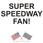 AMERICAN & CHECKERED FLAG<br />SUPER SPEEDWAY FAN