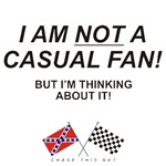 REBEL & CHECKERED FLAG<br />NOT CASUAL FAN But-
